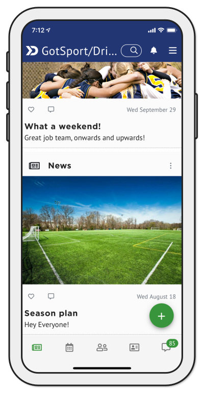 Sports and fitness mobile app